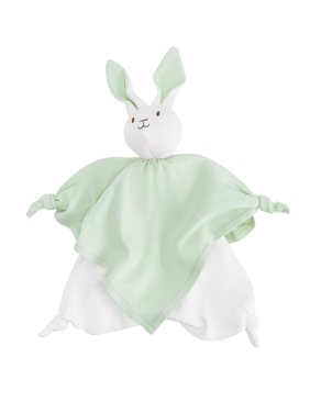 Baby Organic Cotton Sage Green Bunny Lovey Toy