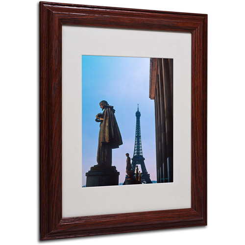 Trademark Fine Art 'View of Eiffel from Trocadero' Matted Framed Art by Kathy Yates