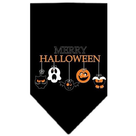 Merry Halloween Screen Print Bandana Black Large - Merry Halloween