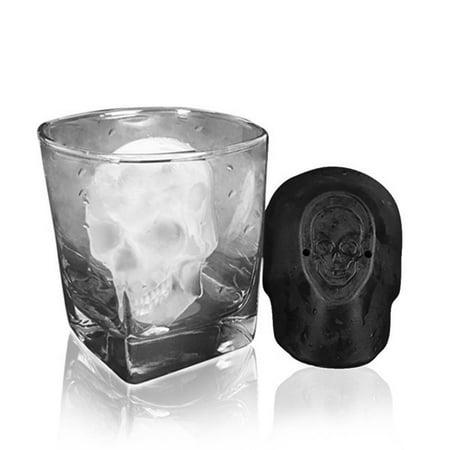 3D Big Skull Ice Tray Mold Bar Party Wine Ice Cube Maker Mold Ice Tray Tool](Skull Ice Cube Tray)