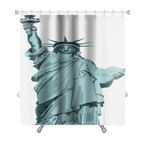 Gear New Patriotic Statue of Liberty Premium Shower Curtain