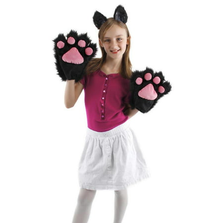 Kitty Paws Gloves Adult Halloween Accessory