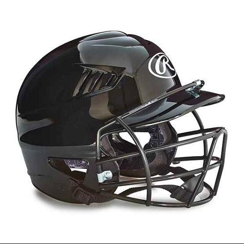 Youth Batting Helmet with Face Guard in Black