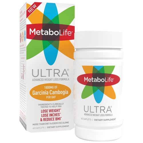Metabolife Ultra Advanced Weight Loss Formula Dietary Supplement Caplets, 45 count