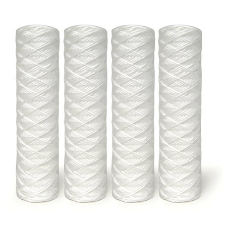 """10"""" 5-Micron String Wound Sediment Filter (4-Pack)"""