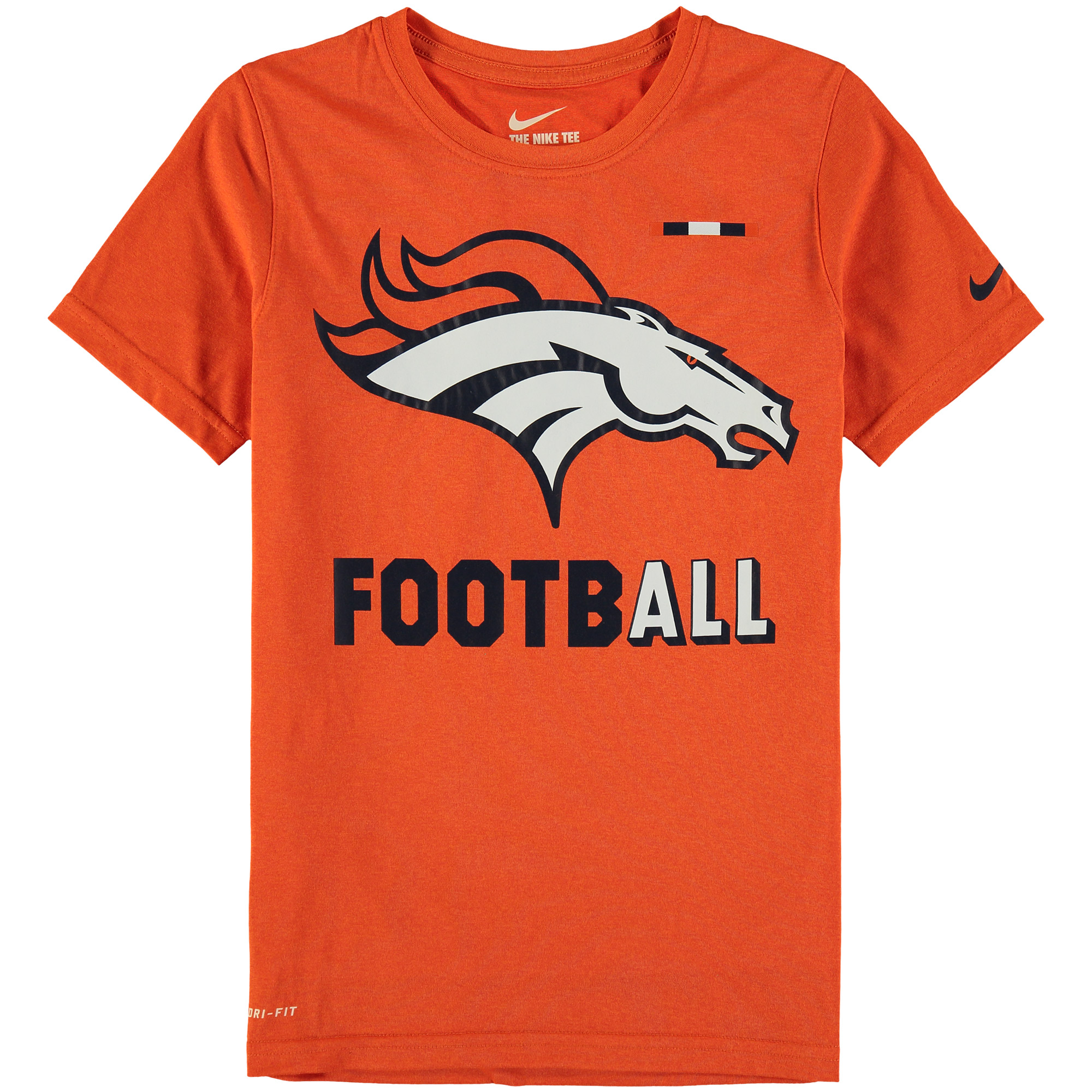 Denver Broncos Nike Youth Legend Football Performance T-Shirt - Orange