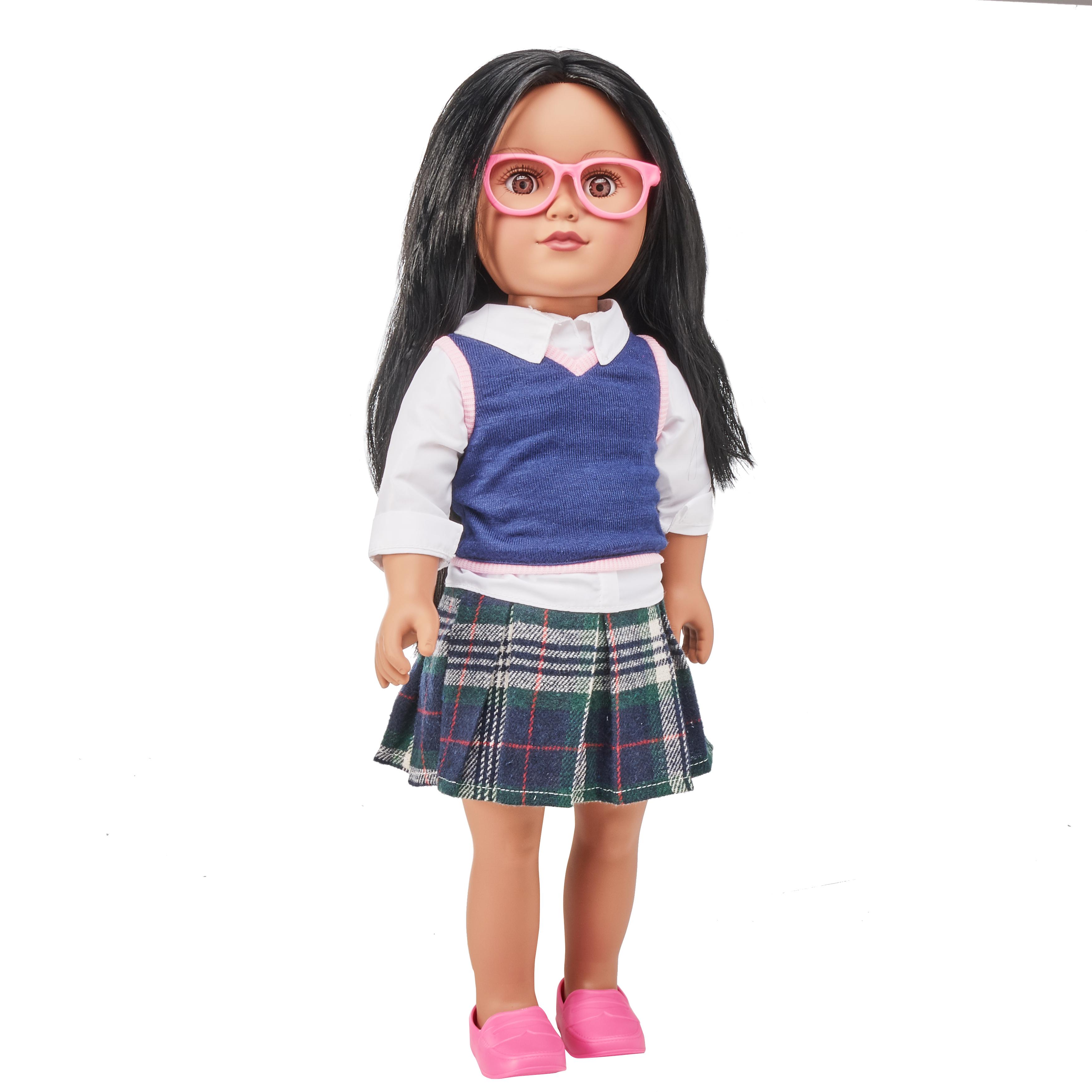 "My Life As 18"" School Girl Doll, Black Hair, with a Soft Torso"