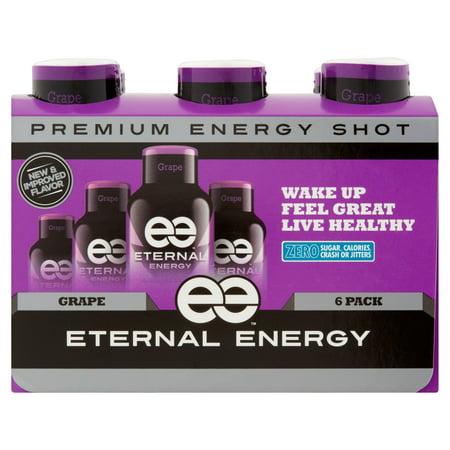 Eternal Energy Premium Energy Shot  Grape  1 93 Fl Oz  6 Count