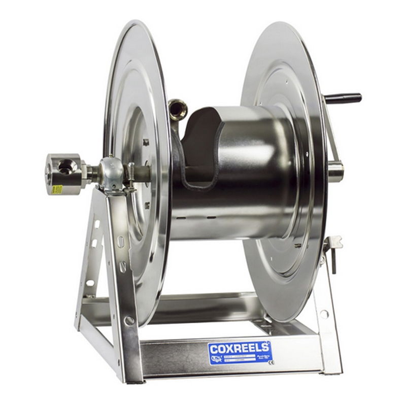 """COXREELS 1175-6-100-SP Stainless Steel Hand Crank Hose Reel 1"""" x 100ft no hose by Coxreels"""