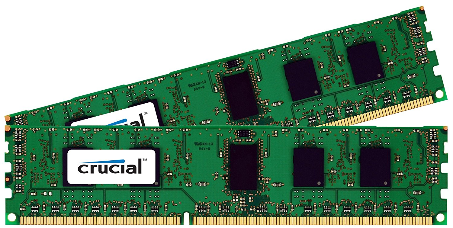 4GB Kit (2GBx2) DDR3-1600 MT/s (PC3-12800) Non-ECC UDIMM 240-Pin Desktop Memory CT2KIT25664BA160B / CT2CP25664BA160B, CT51264BD160BJ 1333MHz Genuine Memory.., By Crucial