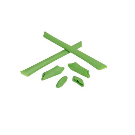 Walleva Green Rubber Kit for Oakley Half Jacket/Half Jacket XLJ Sunglasses (Half Jacket Xlj Ersatzgläser)