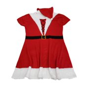 Womens Plus Red Santa Hat Christmas Holiday Short Sleeve Knit Sweater Dress