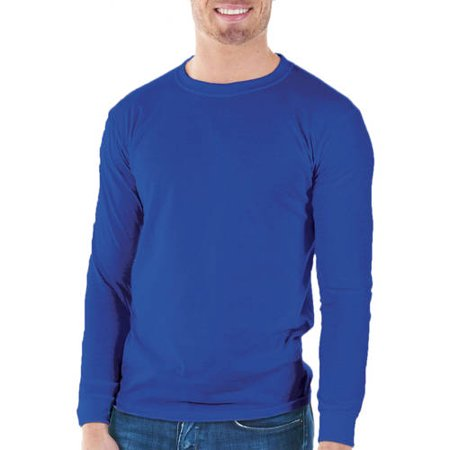 Gildan Mens Classic Long Sleeve T-Shirt Mens Classic Long Sleeve T-Shirt Rib CuffsSeamless double needle collarTaped neck and shoulders for durabilityDouble needle sleeve and bottom hemTubular fit for minimal torquePre-shrunk