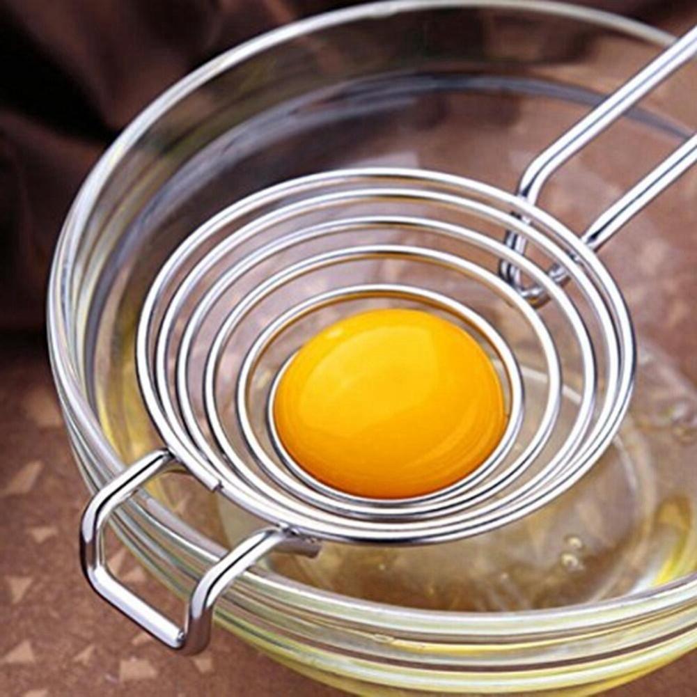 Micelec Kitchen Stainless Steel Egg Yolk Separator Divider Hand Held for Making Cake