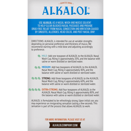 Alkalol Mucus Solvent and Cleaner Nasal Wash, 16 fl oz