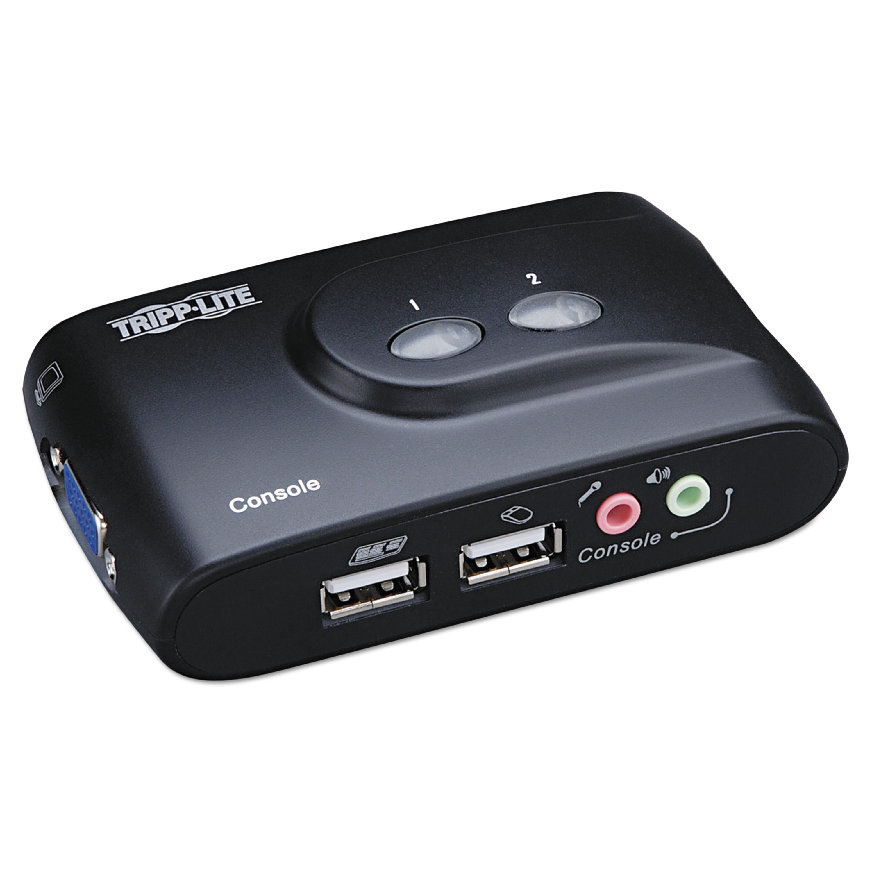 Tripp Lite 2-Port Compact USB KVM Switch w/Audio and Cable