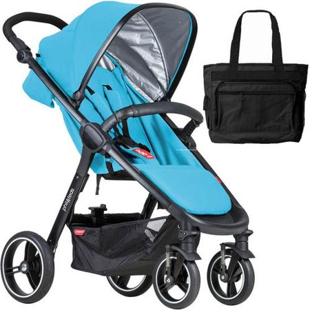 Phil & Teds  Smart Buggy Baby Stroller With Diaper Bag - (Phil And Teds Navigator Stroller With Doubles Kit)