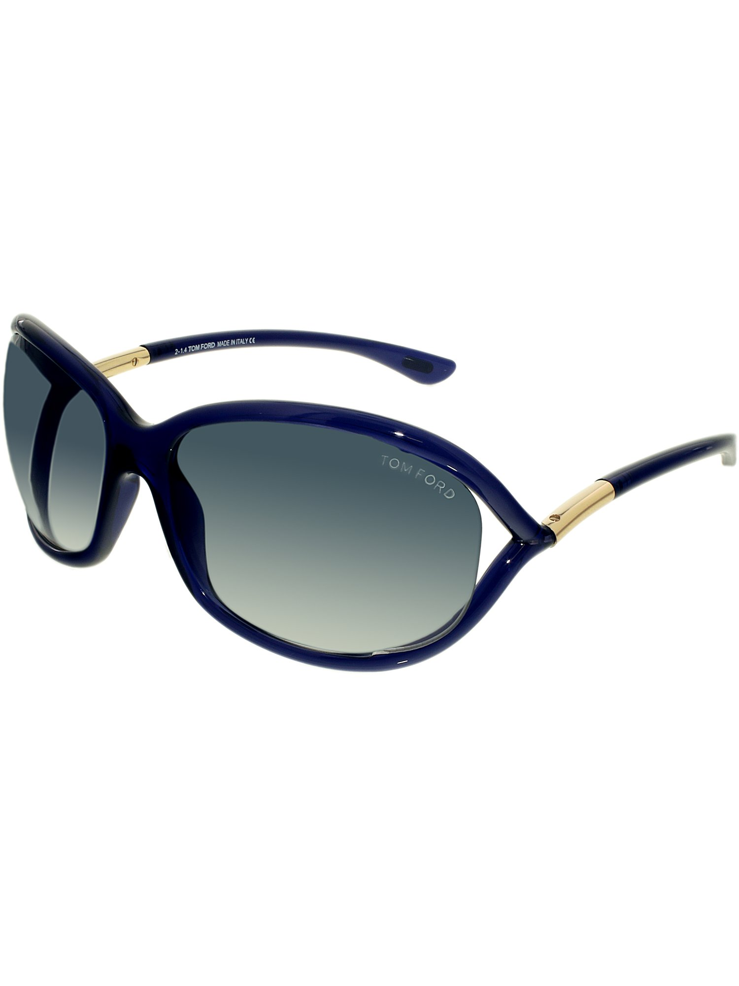 c79ecdbd7af Tom Ford - Women s Jennifer FT0008-90W-61 Blue Oval Sunglasses - Walmart.com