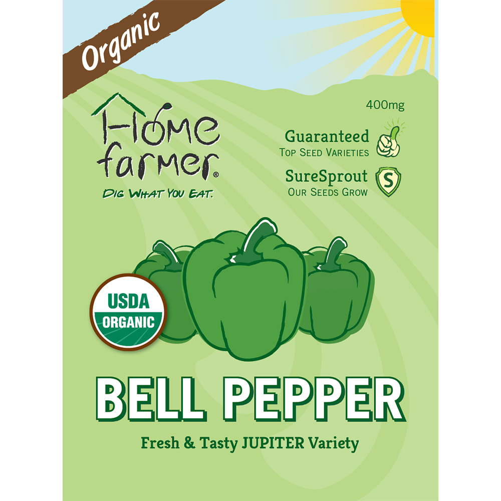 Organic Bell Pepper (Jupiter) Seed Packet
