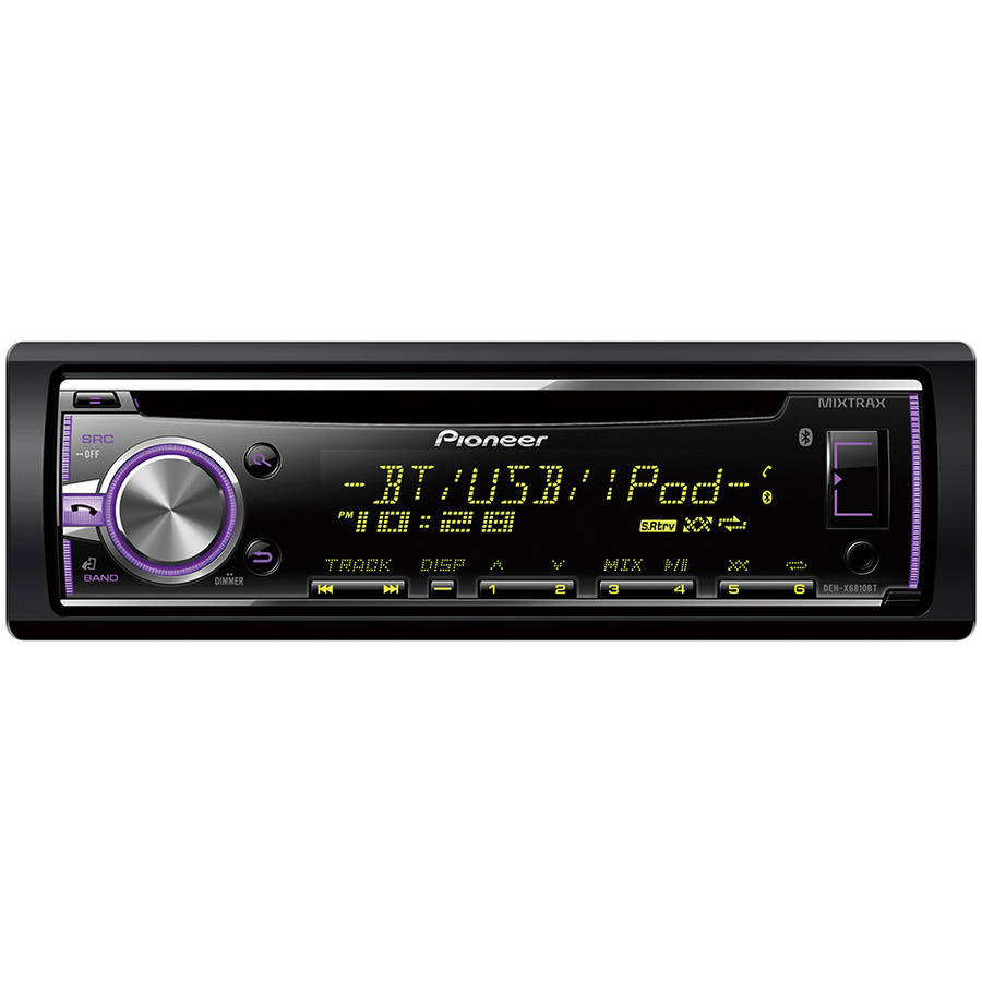 Pioneer DEH-X6810BT AM/FM/CD/Apple IPod Car Stereo With