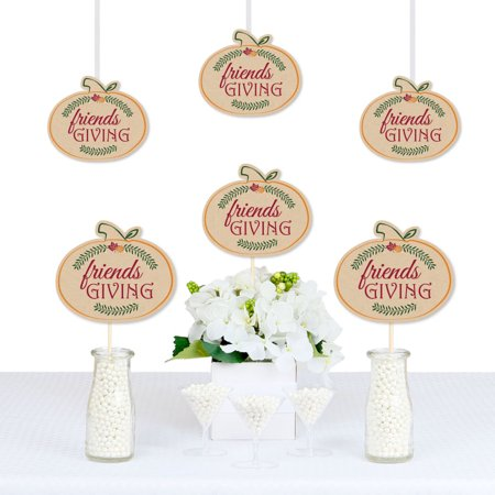 - Friends Thanksgiving Feast - Pumpkin Decorations DIY Friendsgiving Party Essentials - Set of 20