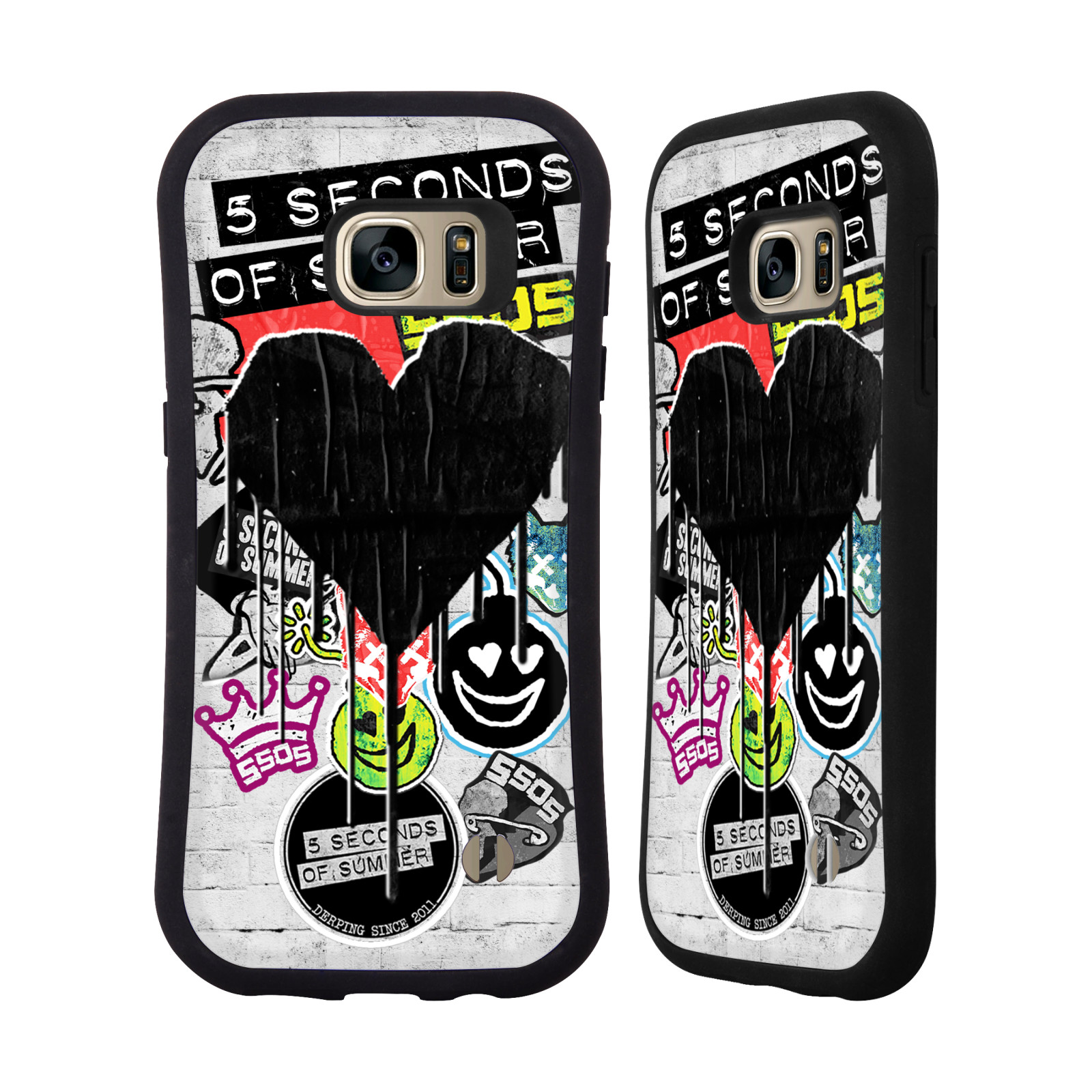 OFFICIAL 5 SECONDS OF SUMMER STICKER BOMB HYBRID CASE FOR SAMSUNG PHONES