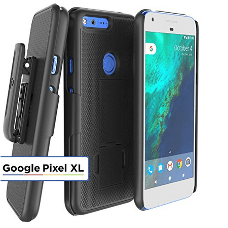 Google Pixel XL Belt Clip Case, Encased DuraCLIP [secure-fit] Holster w/ Slim Cover (Smooth