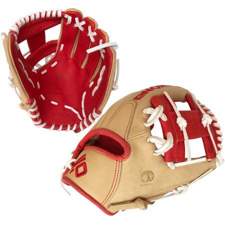 Nokona 2019 SKN Series 11.5 Inch SKN-6-RD Baseball Glove - White Lacing Nokona Glove Top