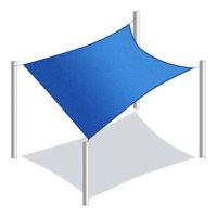 ALEKO Waterproof Sun Shade Sail - Rectangular - Multiple Sizes