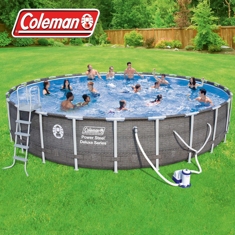 Coleman Power Steel 26 X 52 Quot Deluxe Series Pool Set With