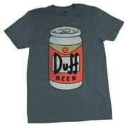 The Simpsons Mens T-Shirt - Classic Duff Beer Cartoon Image (Medium)