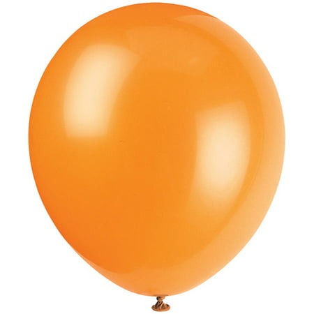 Latex Balloons, Orange, 12in, 10ct