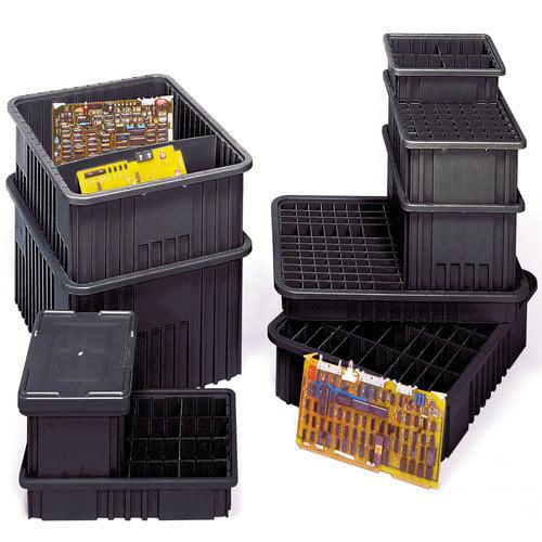 Quantum Storage Conductive Dividable Grid Storage Containers (6'' H x 17 1/2'' W x 22 1/2'' D) (Set of 3)