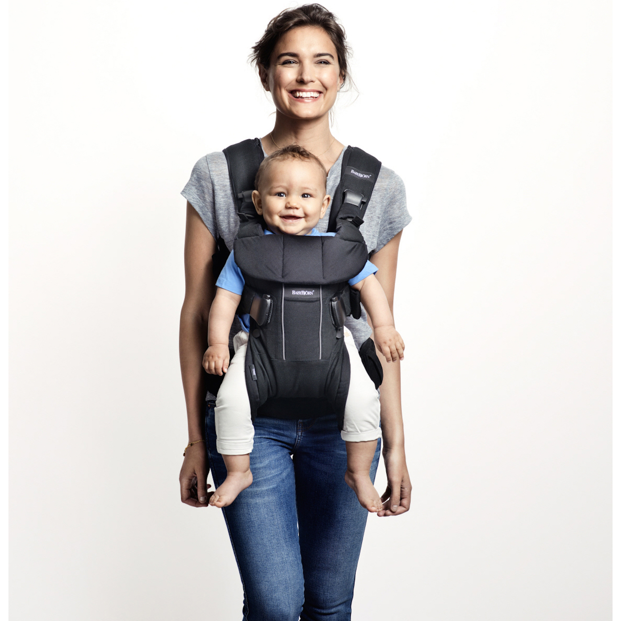 f5a357f3465 BABYBJORN Baby Carrier One Air - Black - Walmart.com