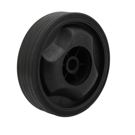 Compressor Part Replacement - 115mm Dia Plastic Replacement Parts Wheel Casters Black for Air Compressor