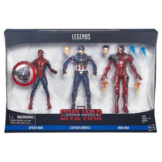 Hasbro HSBB8215 6 in. Captain America Legends 3, Pack of 4