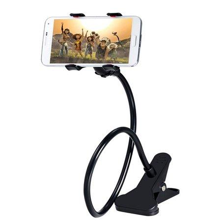 - Universal Gooseneck Long Arm Clip-on Table Mount for Smartphones - Black