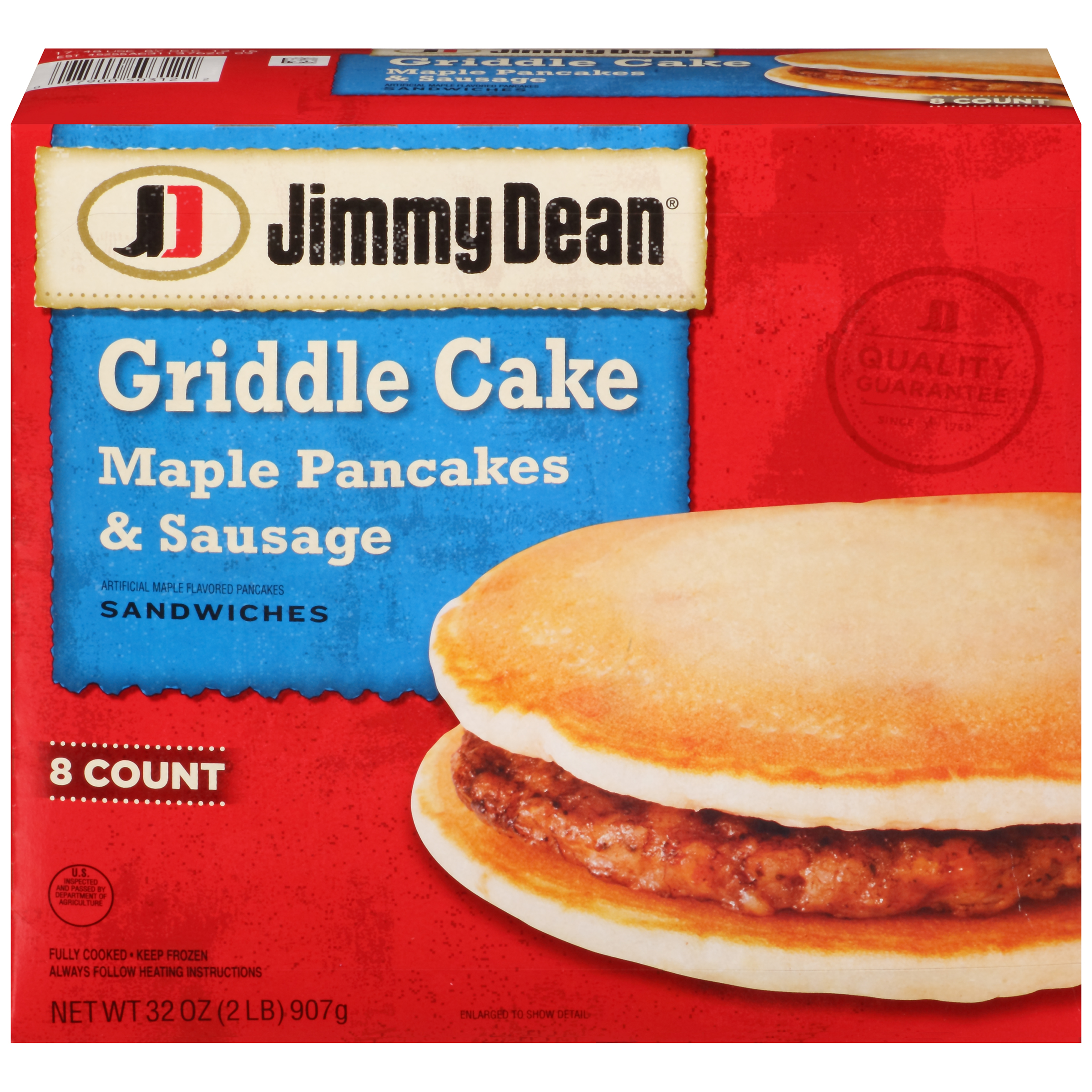 Jimmy Dean Griddle Cake Maple Pancakes Sausage Sandwiches 8 count