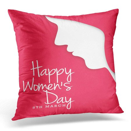 ARHOME Pink Special International Women s Day Advertisement Pillow Cover  16x16 Inches Throw Pillow Case Cushion Cover - Walmart.com acd12d2f8d
