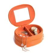 2 Level Travel Lizard Leather Jewelry Case