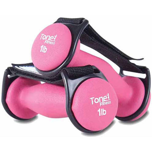 Tone Fitness 2 lb Walking Dumbbells, Set of 2
