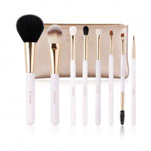 Low Price Cosmetics (DUcare Makeup Brush Gift Sets Goat Synthetic Hair Cosmetic Set with Case, 8)