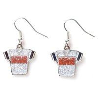 NFL Glitter Jersey Earrings Dangle Charm Team Logo PICK YOUR TEAM w/Gift Box