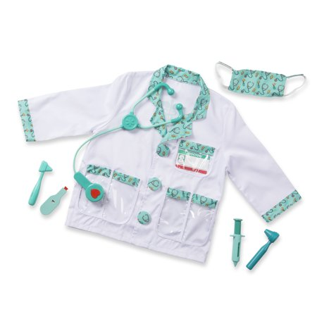 Melissa & Doug® Doctor Role Play Costume Set, Ages 3-6 (Last Minute 50's Costume)