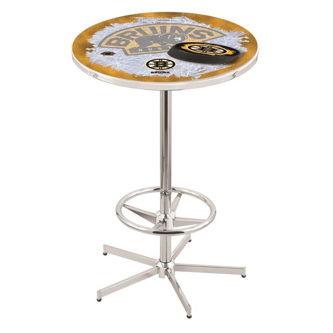 Holland Bar Stool L216C4236BosBru-D2 42 in. Boston Bruins Pub Table with 36 in. Top, Chrome - image 1 of 1