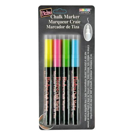 Uchida Bistro Chalk Marker Set, 4-Markers, Fine Tip (Chalk Marker)