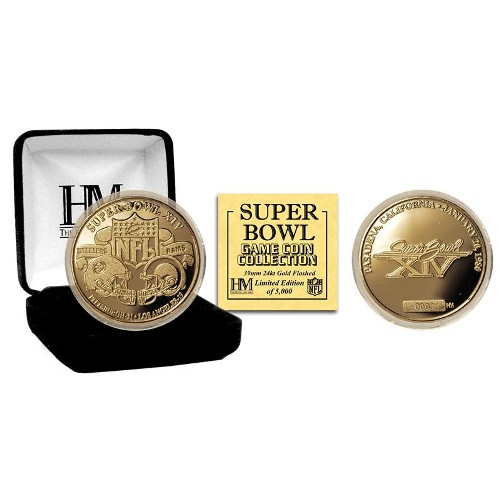 NFL Commemorative Coin by The Highland Mint - Super Bowl XIV