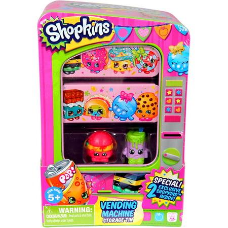 Shopkins Vending Machine Storage Tin [2 Exclusive Shopkins!]