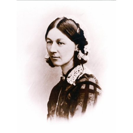 Carte De Visite Photograph of Florence Nightingale, by H. Lenthall, C.1856 Print Wall Art