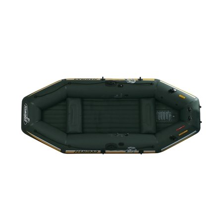 9.5' Green and Yellow Three Inflatable Fishing Boat Set - image 1 de 2